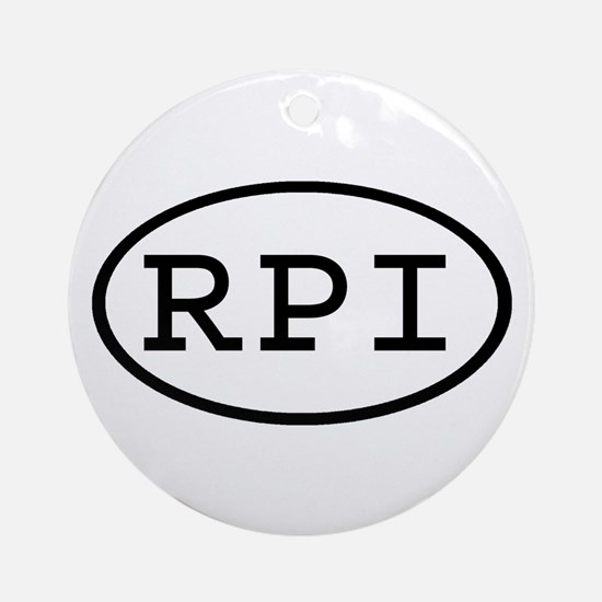 RPI Oval Ornament (Round)