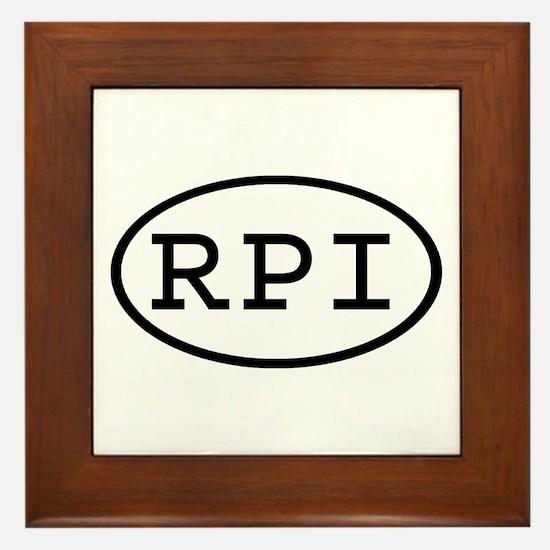 RPI Oval Framed Tile