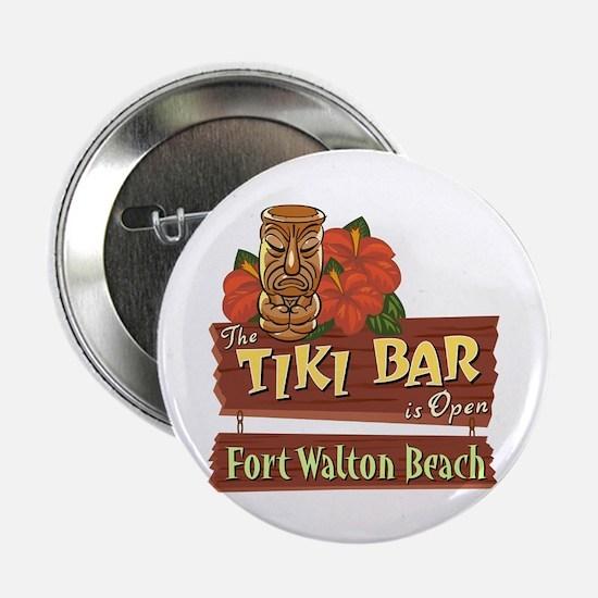 "Ft. Walton Beach Tiki Bar - 2.25"" Button"