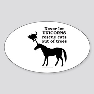 UNICORN Oval Sticker