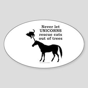 UNICORN Oval Sticker