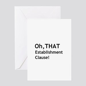 Establishment Clause Greeting Card