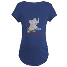 Baseball - Elephant Maternity T-Shirt