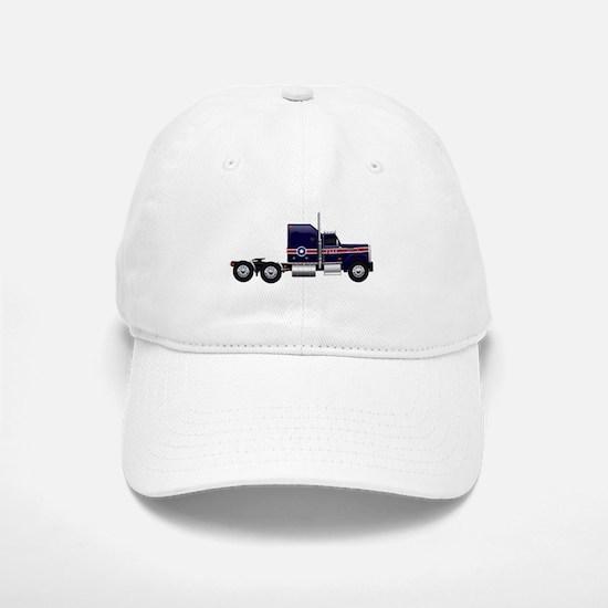 Blue American Truck Baseball Baseball Baseball Cap