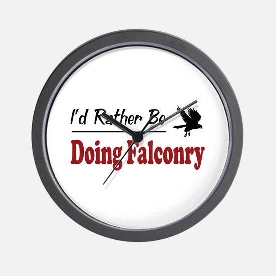 Rather Be Doing Falconry Wall Clock