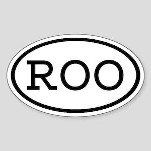 ROO Oval Oval Sticker