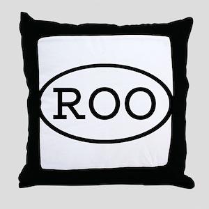 ROO Oval Throw Pillow