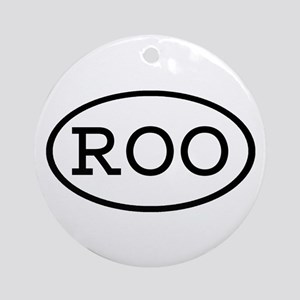 ROO Oval Ornament (Round)