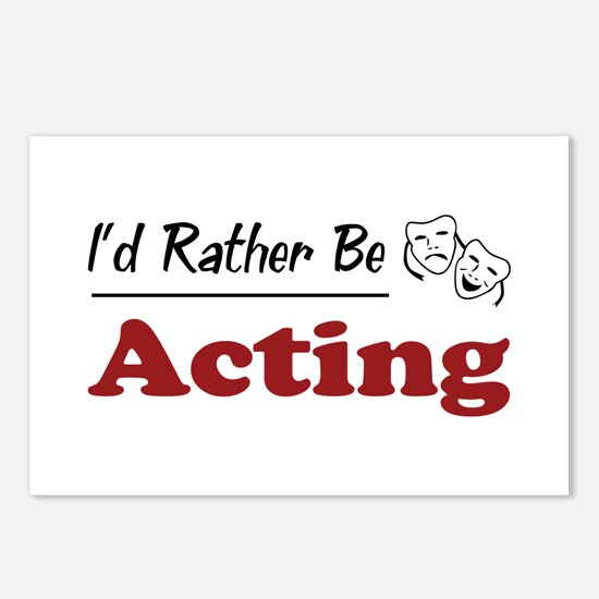Rather Be Acting Postcards (Package of 8)