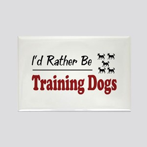 Rather Be Training Dogs Rectangle Magnet