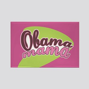 Retro Obama Mama Rectangle Magnet
