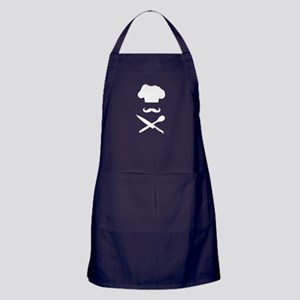 Chef Hat: Mustache & Cross Knife Spoon Apron (dark