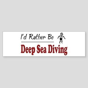 Rather Be Deep Sea Diving Bumper Sticker
