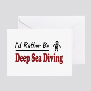 Rather Be Deep Sea Diving Greeting Card