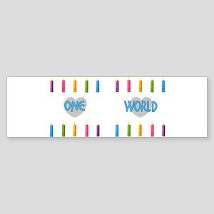 One World Sticker (Bumper)