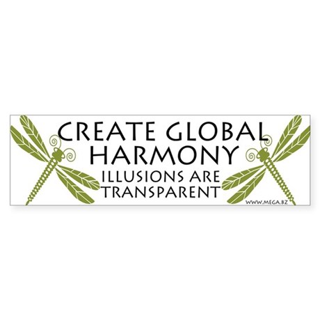 Create Global Harmony Bumper Sticker