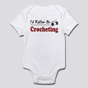 Rather Be Crocheting Infant Bodysuit
