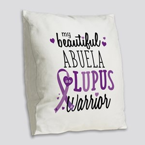 Abuela Lupus Burlap Throw Pillow
