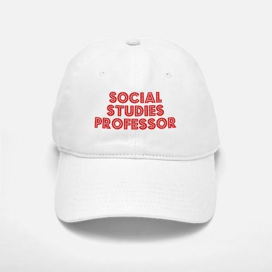 Retro Social Stud.. (Red) Baseball Baseball Cap