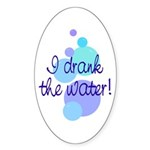 The Water Oval Sticker (10 pk)