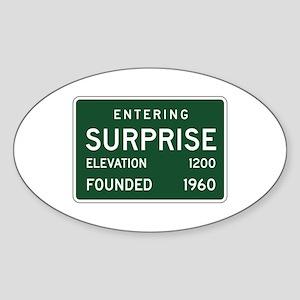 Surprise, AZ (USA) Oval Sticker