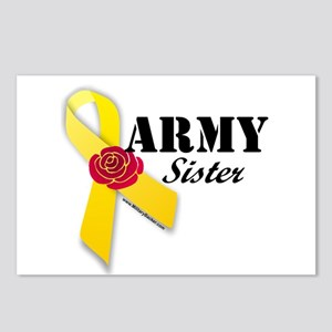 Army Sister (Ribbon Rose) Postcards (Package of 8)