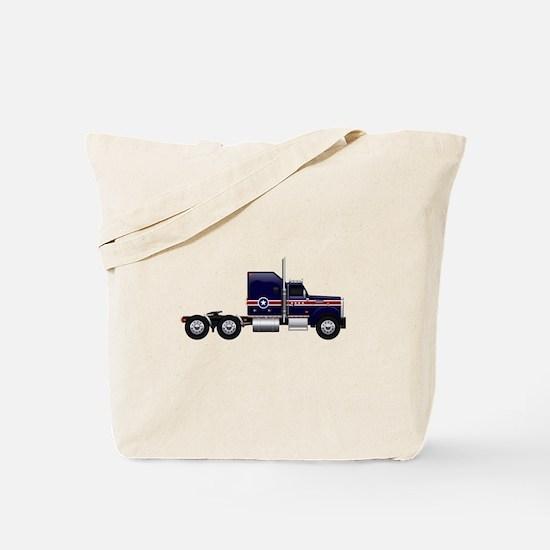 Blue American Truck Tote Bag
