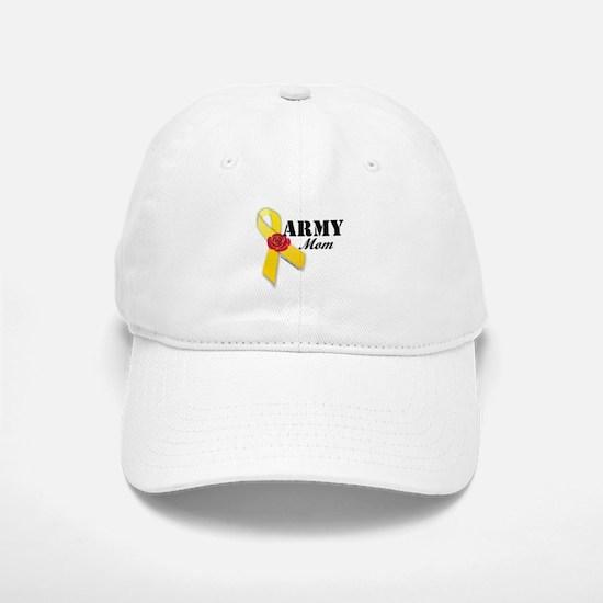 Army Mom (Ribbon Rose) Baseball Baseball Cap