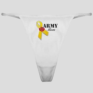 Army Mom (Ribbon Rose) Classic Thong
