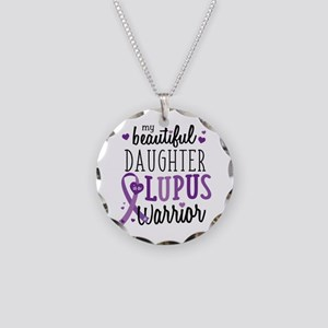 Daughter Lupus Necklace Circle Charm