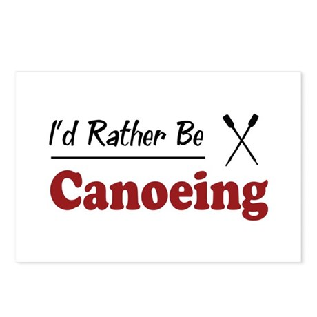 Rather Be Canoeing Postcards (Package of 8)