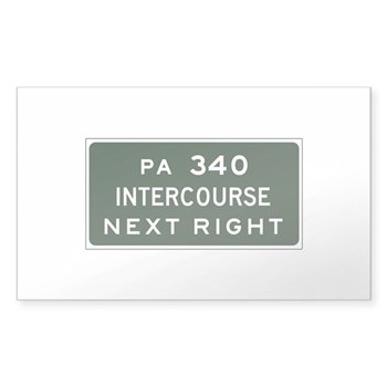 Intercourse, PA Rectangle Sticker