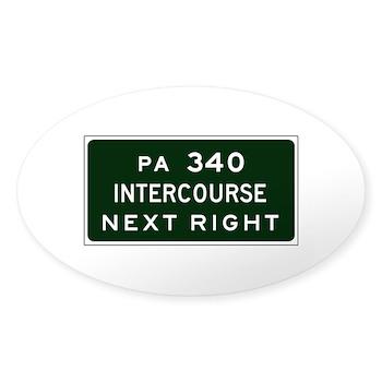 Intercourse, PA Oval Sticker