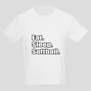 """""""Eat. Sleep. Softball."""" Kids Light T-Shirt"""