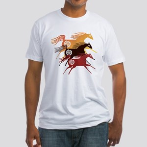 Three Ancient Horses Fitted T-Shirt