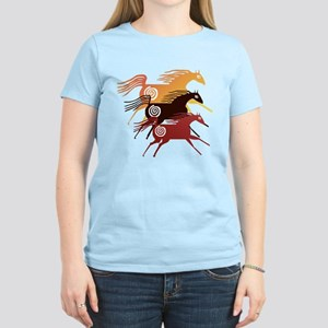 Three Ancient Horses Women's Light T-Shirt