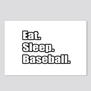 """Eat. Sleep. Baseball."" Postcards (Package of 8)"
