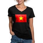 Vietnam Women's V-Neck Dark T-Shirt