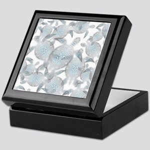Silver Turtles Pattern Keepsake Box
