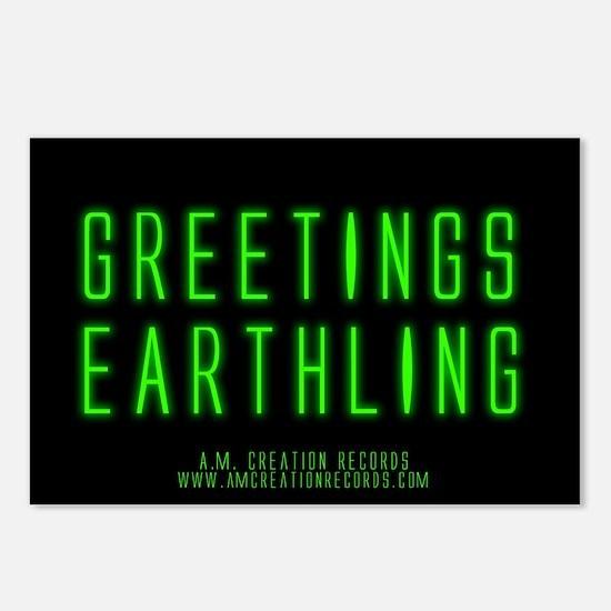 Greetings Earthling Postcards (Package of 8)