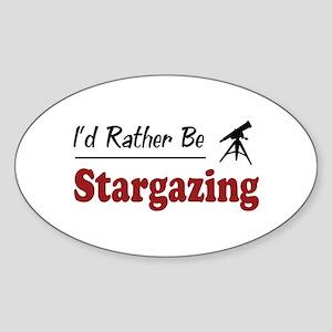 Rather Be Stargazing Oval Sticker