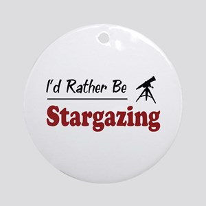 Rather Be Stargazing Ornament (Round)