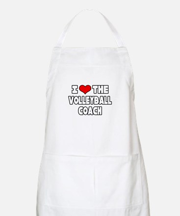 """I Love The Volleyball Coach"" BBQ Apron"