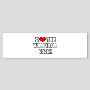 """I Love The Volleyball Coach"" Bumper Sticker"