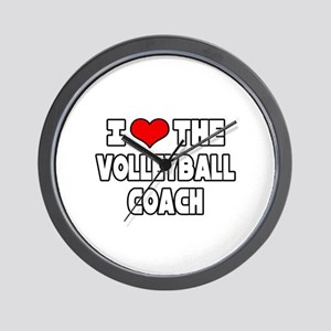 """""""I Love The Volleyball Coach"""" Wall Clock"""