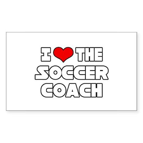 """I Love The Soccer Coach"" Rectangle Sticker"