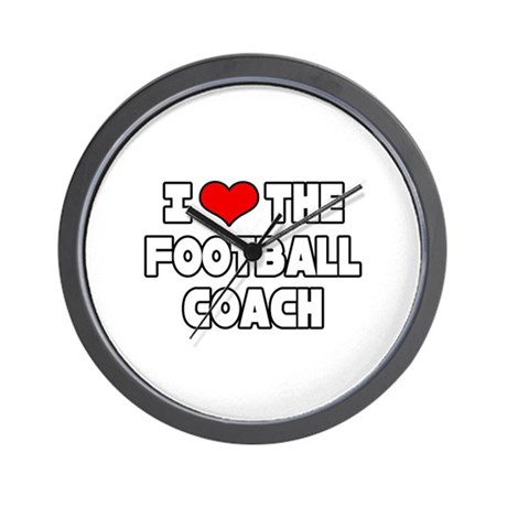 """""""I Love The Football Coach"""" Wall Clock"""