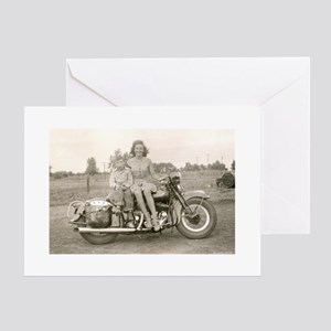 Harley Girl Greeting Cards