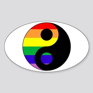GLBT Yin Yang Oval Sticker