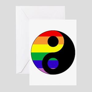 GLBT Yin Yang Greeting Cards (10)